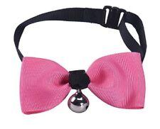 Noeud papillon chien ou chat rose avec clochette déguisement costume cérémonie