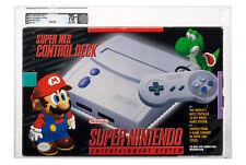 SNES Super Nintendo Control Deck Console Graded VGA 75+ Yoshi Mario