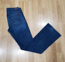 7 Seven For All Mankind Bootcut Jeans Women's Size 27 Medium Wash Distressed