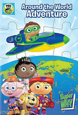 Super Why: Around the World Adventure (DVD, 2016, Includes Puzzle)