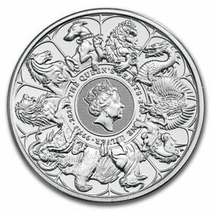 2 Oz Queen's Beast 2021 Complete Collection Coin Fine Silver 999 PREORDER
