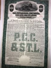 Pittsburgh, Cincinnati, Chicago and St Louis Railroad Bond certificate
