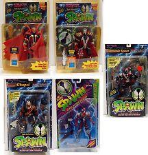 SPAWN Vintage Action Figures 5 Lot (CAPE, MEDIEVEL, COMMANDO, NUKE,CHAPEL 1995