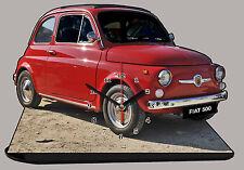 AUTO MINIATURA, FIAT 500 ROSSO-04, AUTO IN OROLOGIO MINIATURA