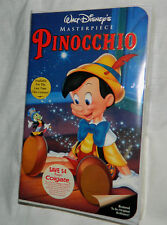 NEW Walt-Disney's Classic: Pinocchio (VHS, 1993) Factory Sealed with Clam Shell
