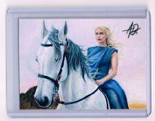 2018 ACEO Sketch Card DAENERYS TARGARYEN Emilia Clarke GAME OF THRONES 1/1