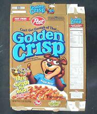 Post Golden Crisp Flattened Cereal Box 1999 Magilla Gorilla Scooby-Doo Toon Kit