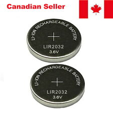 LIR 2032 Battery 3.6V Rechargeable Button Coin Compatible With Maxell ML2032 2Pc
