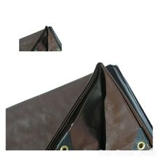 Super Heavy Duty Tarp Canvas Shade Structure Brown Canopy Roof Boat Cover Fabric