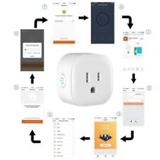 Smart Wi-Fi Mini Outlet Plug Switch Works With Echo Alexa Remote Control -4 Pack