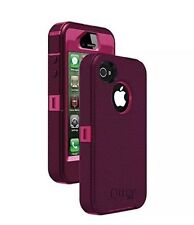 LAST OtterBox Defender Rugged Protection For Iphone 4 4s (Peony Pink/Deep Plum)