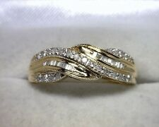 14K Yellow Gold Diamond Band .40 TCW Size 9.25