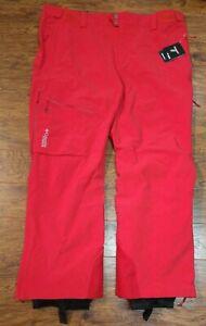 Men's Columbia Titanium Snow Rival II Ski Pants Red Size 2XL WO0940-613 $199