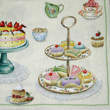 Cup cake fairy cake time for sweets IHR luxury paper table napkins new 20