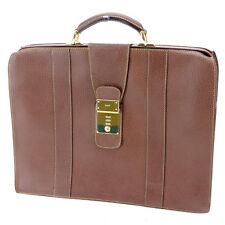 Gucci Business bag Brown Gold Mens Authentic Used L1440