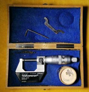 Vintage Tesa Tesamaster 0-25mm Micrometer. Swiss made. Engineering Tools.