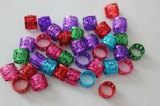 120 Hair Dreadlocks Bead Cuff Clip.Decoration Filigree Tube Mixed Color 10mm