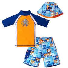 UV Skinz Boy's 3 Piece Swimset Swimwear UPF 50 Shirt Shorts Hat  Sz 5
