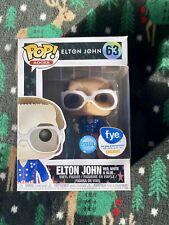 Funko Pop! #63 Elton John Glitter Red, White, & Blue Fye Exclusive.