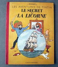 TINTIN HERGE LE SECRET DE LA LICORNE CASTERMAN  EO A20 1943 TTBE