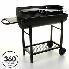 BBQ Barbecue Half Drum Barrel Charcoal Grill Outdoor Cooking Patio Garden Party
