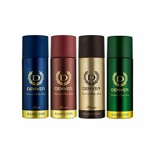 Denver Deodorant Spray Combo - Hamilton, Honour, Pride & Prestige, 660 ml ( Pack