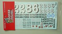 1960 NASCAR NUMBERS 1:24 1:25 GOFER RACING DECALS CAR MODEL ACCESSORY 11008