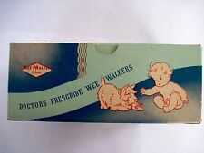 Charming Vintage Wee Walker Shoe Box w/ Scottie Dog and Baby *