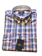 HACKETT Brand New Plaid Shirt XXL Slim Fit