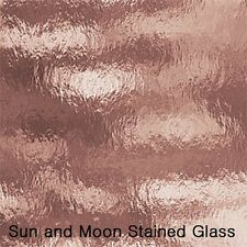 8X10 Spectrum Glass S 591-1RR : PINK CHAMPAGNE (Rough Rolled)