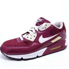 Rare Nike Air Max 90 Mens 8.5 Shoes Deep Garnet/White-Anthracite Burgundy Maroon