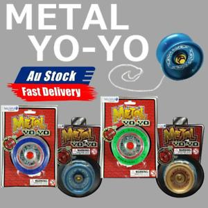 4x Professional Metal Yo-Yo Bundle Bearing Ball Kids Toy Magic YoYo
