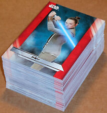 Star Wars The Last Jedi Series 1 ~ COMPLETE 100-CARD BASE SET