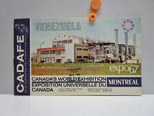 Vintage - VENEZUELA  Brochure - CANADA'S WORLD EXHIBITION  expo67  Montreal 1967