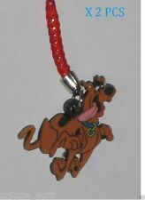 2PCS SCOOBY DOO DOG CELL PHONE STRAP BAG CHARM KEY CHAIN Ca un1030