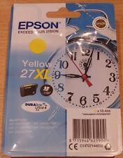 GENUINE EPSON 27XL Yellow cartridge ORIGINAL T2714 ALARM CLOCK ink - dated 2020