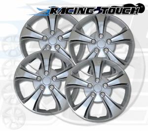 "Wheel Cover Replacement Hubcaps 15"" Inch Metallic Silver Hub Cap 4pcs Set #616"