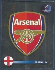 PANINI UEFA CHAMPIONS LEAGUE 2008-09- #060-ARSENAL TEAM BADGE-SILVER FOIL