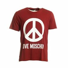 LOVE MOSCHINO T-Shirt Red Cotton Blend Short Sleeved Size 2XL CF 113