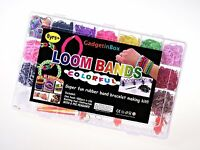 4200PCS LOOM RUBBER BANDS SET RAINBOW COLOURFUL CHILDREN BRACELET DIY MAKING KIT