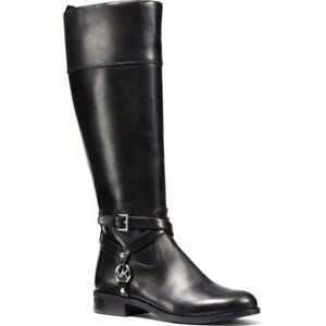 MICHAEL Michael Kors Womens Preston Black Riding Boots 5.5 Medium (B,M) 8879