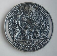 POLISH Poland MONTE CASSINO WWII COMMEMORATIVE MEDAL silvered TYPE