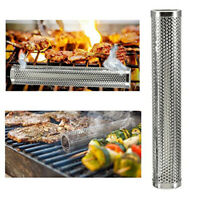BBQ 6 inch Pellet Smoker Tube/Pipe Stainless Steel Durable For Hot/cold 4 Shape