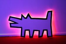 More details for keith haring style dog 65x40 lrg neon sign wall art bar sign usb night light