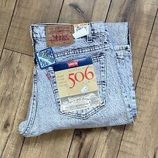 Vintage USA Levi's 506 Jeans Men's 36x34 Mens Acid/White Blizzard Washed NWT