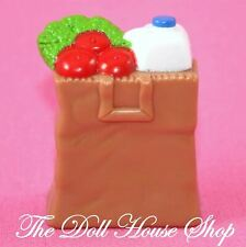 Fisher Price Loving Family Dollhouse Brown Bag Groceries Kitchen Food