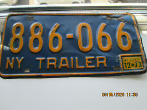 VINTAGE AMERICAN LICENSE PLATE FROM NEW YORK