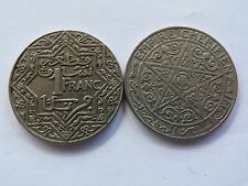 Pièce monnaie MAROC MORROCO 1 FR état voir scan
