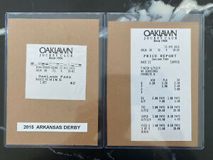 American Pharoah $2 win ticket And Price Report From The 2015 Arkansas Derby