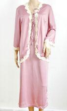 PALMERS Nacht-Set Damen Nachthemd + Bluse Schmutzig - Rosa Spitzenlook
